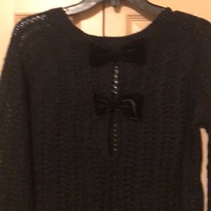 Open weave bow back sweater NWT
